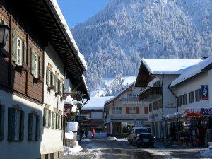 Die Oststrasse in Oberstdorf