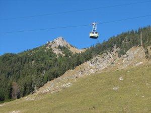 Die Gondel der Nebelhornbahn
