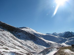 Schnee auf dem Nebelhorn