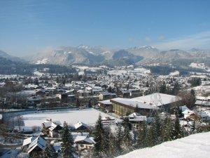 Oberstdorf an einem Wintertag