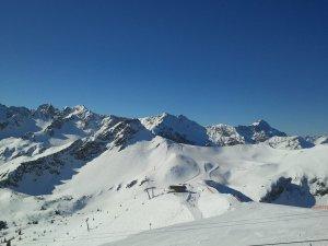 Blick ins Skigebiet Kanzelwand