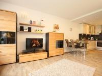 Wohnzimmer mit offener Küche Wiesenblume