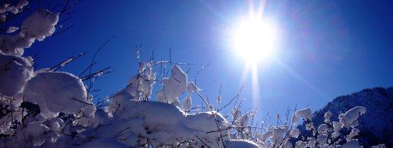 Winteridylle mit Sonne