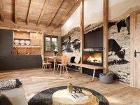 Visualisierung: Wohnzimmer mit Küche