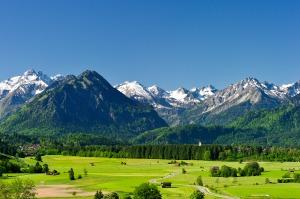 Allgäuer Alpen im Frühling