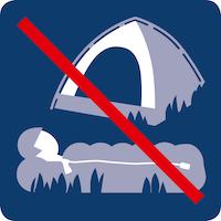 31-Zelten und biwakieren verboten