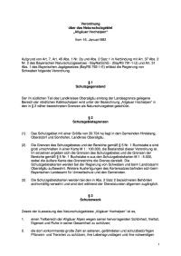 Schutzverordnung Allgäuer Hochalpen