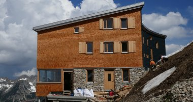 Waltenberger Haus im Bau