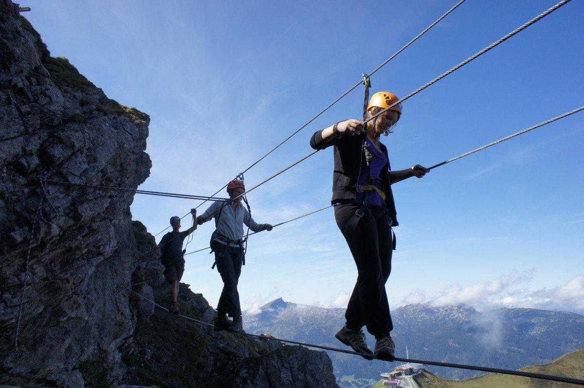 Klettersteig Kanzelwand : Schnupperklettersteig kanzelwand