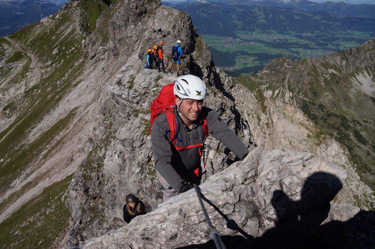 Hindelanger Klettersteig Ungesicherte Stellen : Hindelanger klettersteig panorama im breitwandformat reise