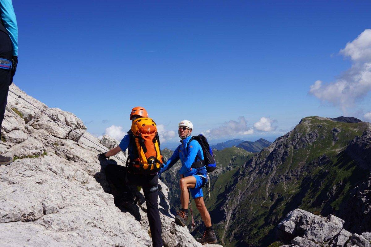 Hindelanger Klettersteig Ungesicherte Stellen : Klettersteig beschreibung hohe gänge