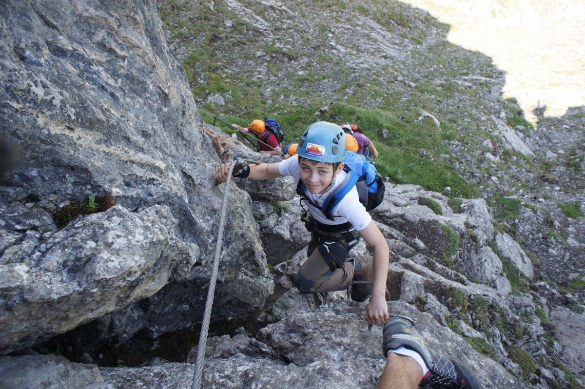Klettersteig Für Kinder : Familien klettersteig wochenende