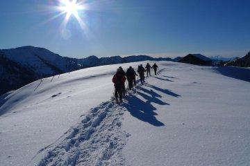 Schneeschuhwandern Allgäu Hochgrat