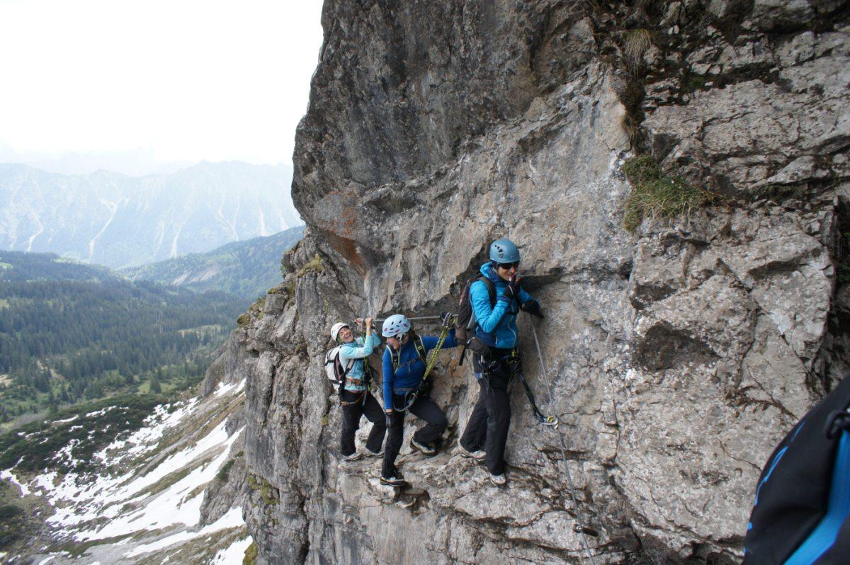 Klettersteig Allgäu : Länder sportklettersteig tagestour