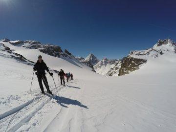 Aufstieg über den Silvrettagletscher