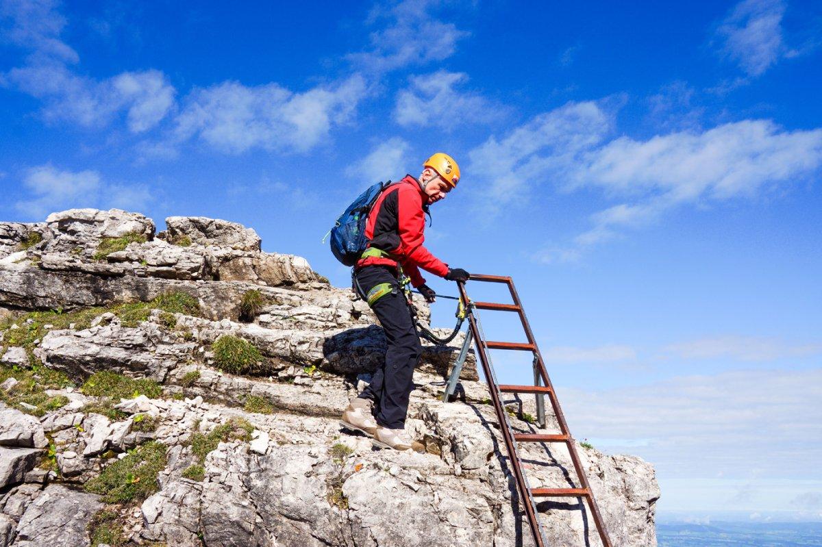 Hindelanger Klettersteig Ungesicherte Stellen : Klettersteige in oberstdorf im allgäu