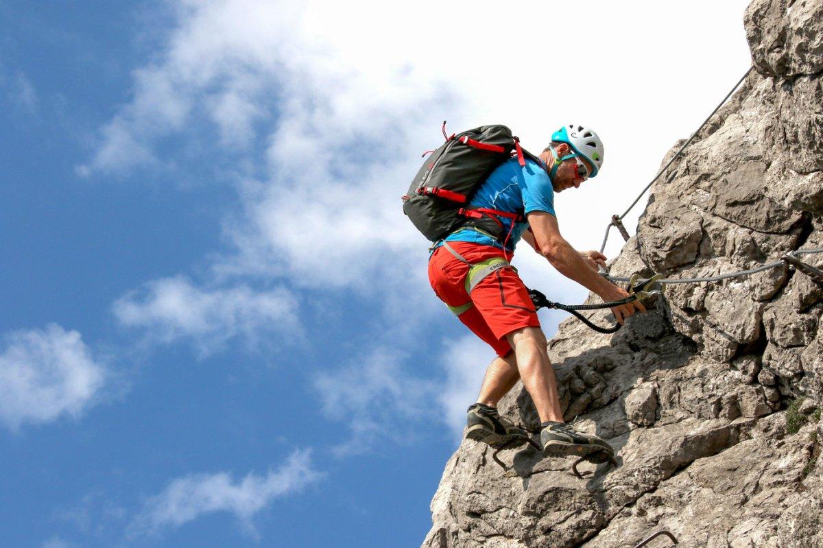 Klettersteig Wallis : Schnupperklettersteig kanzelwand