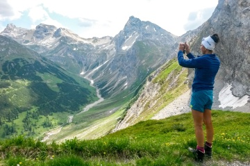 Wandertour von Oberstdorf nach Meran, Tal zu Tal
