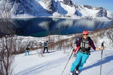 Ski Abfahrt Norwegen