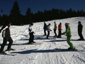 Skiunterricht am Söllereck