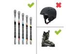 Ausrüstung Ski - Set