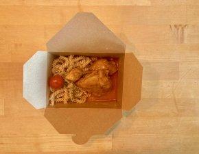 Paprika Hähnchen mit Dinkel Nudeln