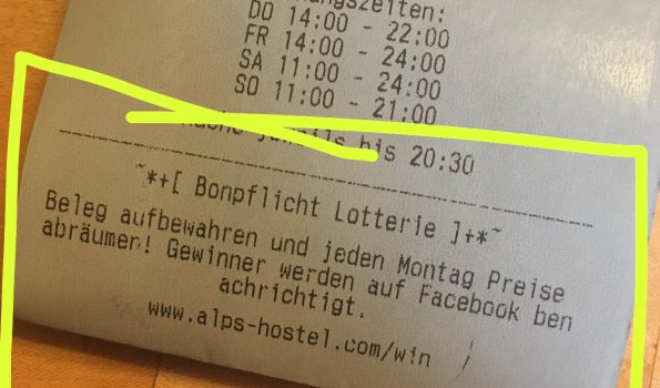 Bonpflicht Lotterie
