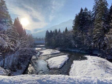 Wunderbare Winterlandschaft im Stillachtal
