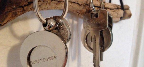 Die Schlüssel geben wir Ihnen persönlich