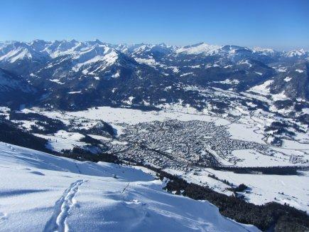 Traumhafter Blick auf Oberstdorf