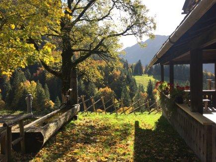traumhafte Herbstruhe in Gerstruben