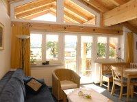 Sehr gemütliches Wohnzimmer Dachgeschoss