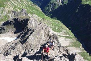 Aufstieg Trettach Spitze Oberstdorf mit Bergführer