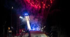 Feuerwerk an der Skiflugschanze