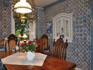Friesische Kacheln im Inselhotel Arfsten auf Föhr