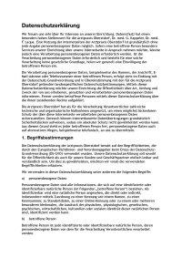 Datenschutzerklärung Arztpraxis Kappeler und Laqua