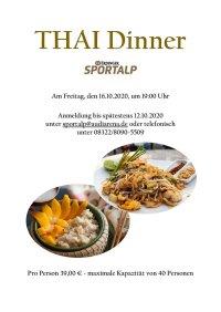 Thai Dinner Erdinger Sportalp 16.10.2020