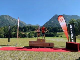 Die Gesamtsieger des Oberstdorfer Rollski-Doubles