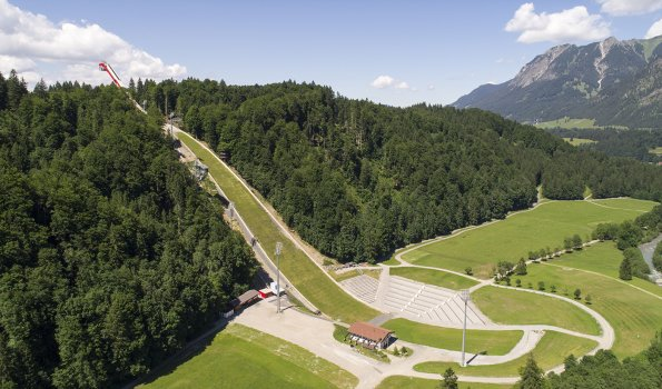 Skiflugschanze Oberstdorf Luftbild