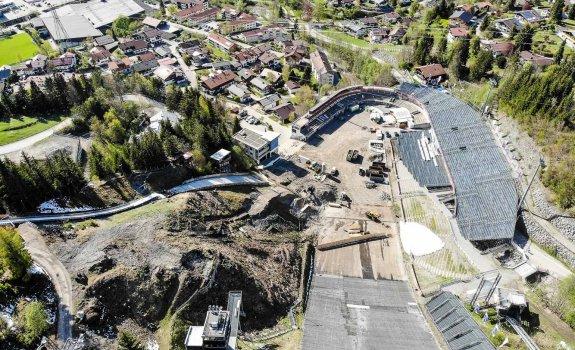 Luftaufnahme der Baumaßnahme April 2019