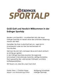 Speisekarte Sportalp 2020