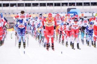 Start Skiathlon Herren Weltcup 2020