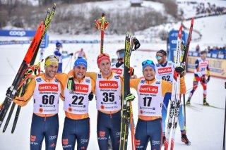 Die deutschen Langlauf-Herren beim Heim Weltcup