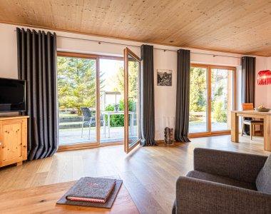 Wohnzimmer in der Ferienwohnung Tal