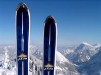 Ski vor Aussicht