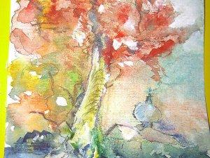 Herbst - Aquarell