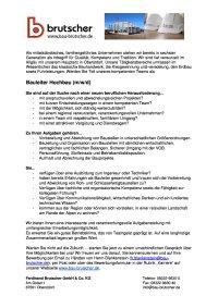 Bauleiter Hochbau (mwd)