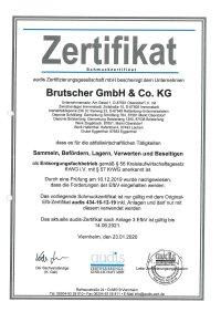Audis Zertifikat Entsorgungsfachbetrieb 2020