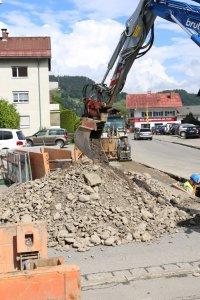 Straßenbauarbeiten, Oberstdorf