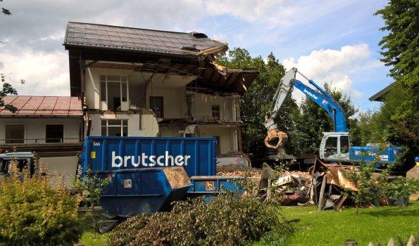 Abbrucharbeiten, Oberstdorf